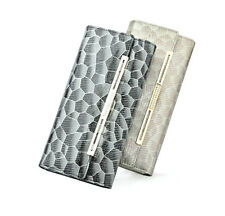 Dante LADY Leather Clutch Wallet Pocket Card ID Credit Bi-fold CellPhone Wallet