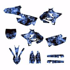 2002 - 2014 YZ125 YZ250 Graphics UFO Restyled kit #9500-Blue Zombie Skull