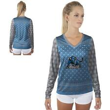 Buffalo SUNY Bulls Womens Long Sleeve V-Neck Shirt Christmas Party  Design