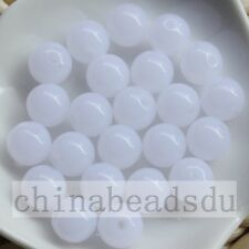 Free Shipping 50Pcs 12MM Acrylic Jelly Color Round Beads Loose Spacer Charms