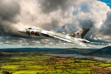 Vulcan Bomber Digital Painting - Ready To Hang Large Framed Canvas Print - Gift