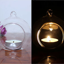 Clear Glass Hanging Candle Tealight Holder Candlestick Wedding Party Home Decor