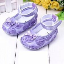 Toddler Baby Girls Princess Shoes Kid Dress Bowknot Rose Flower Shoes