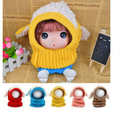 New Winter Baby Warm Cute  Dog Knitted Crochet  Cloak Hooded  Hat Cap  Scarf Set