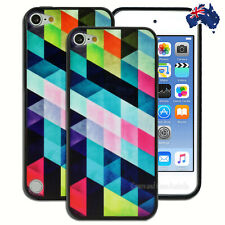 Colourful Geometric Hard Case for Apple iPod Touch 5 5th 6 6th Gen Cover