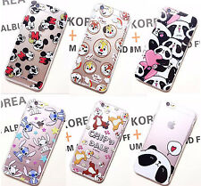 Hot Cute Lovely Cartoon Soft Crystal Clear Phone Case Cover for iPhone 6 6S Plus