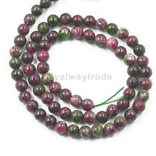15.5inch Ruby Zoisite Round Gemstone Loose Beads Strand Jewelry Making Craft