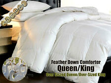 100% Goose Feather Down Comforter 95/5 M-Fill Bed Bedding Comforters, Queen King