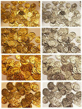 Aluminum JINGLE COINS Belly Dancing Jewelry Craft Costume 9mm -18mm Gold Silver