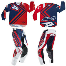 AXO Motion Red Blue Motocross Dirt Bike MX MTB Jersey AND Pants Combo NEW +