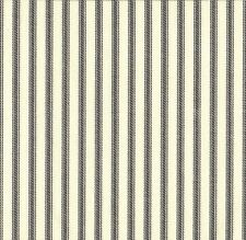 French Country Brindle Gray Ticking Stripe Shower Curtain with Ruffle