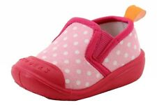Skidders Infant Toddler Skidproof Pink Polka Dot Gripper Slippers Shoes