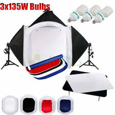 Photo Photography studio 80cm cube tent 3 Soft Box Lights Backdrop Stand kit