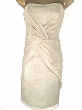 Karen Millen Strapless Sequin Dress Shift Evening Cocktail Party UK Size 8 10 14