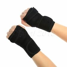 Black Protect Wrist Band Fracture Support Brace Carpal Tunnel Splint Strain Gift