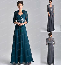 Long Mother's of The Bride Wedding Gown Formal Evening Party Prom Dresses 6-16
