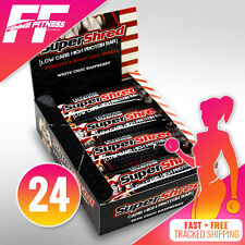 24 X MAX'S SUPER SHRED BARS 60G LOW CARB HIGH PROTEIN SUPERSHRED