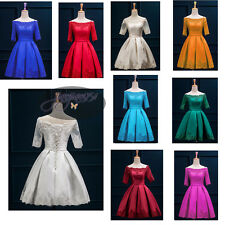 Stock New Short Formal Wedding Party Gown Bridesmaid Evening Cocktail Prom Dress