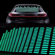 1x Car Music Rhythm LED Flash Light Stage Sound Activated Equalizer green