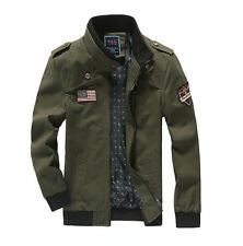 MENS FASHION ARMY WORK BOMBER JACKET OUTERWEAR MILITARY WARM 100% COTTON JACKET