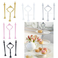 3-Tier Crown Cake Cupcake Plate Stand Handle Fitting Hardware For Party Wedding