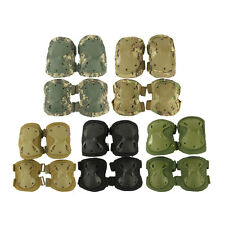 New Airsoft Tactical Knee and Elbow Protective Pads Set Black/Tan/ACU US Stock