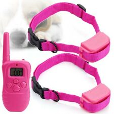 NEW 300m Rechargeable Remote Electric Shock Dog Training Collar With LCD Display