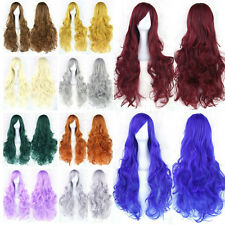 New Women Girls Anime Long Curly Wavy Hair Party Cosplay Full Wig 45