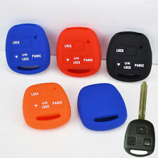 FIT FOR TOYOTA YARIS LAND CRUSIER FJ CELICA AVENSIS SILICONE KEY COVER FOB CASE
