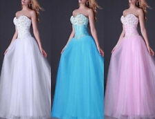 2016 New Ball Formal Party Prom Gown Quinceanera Dresses Bridal Wedding Dress