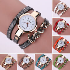 New Style Leather Band Casual Bracelet Watch Love Quartz Women Dress Watches