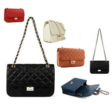 Diamond Quilted Flap Bag With Chain Bags Red Handbag Quilting Womens Purses 41