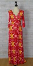 Deep Sunset Maxi V Cleavage Dress-Orange Red S-M-L