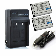 1200mAh Li-40B/Li42B Battery or Charger for Olympus Li-42B/Pentax D-Li63/EN-EL10
