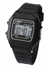 Limit Unisex Digital Quartz Black Watch With Alarm/Chrono/Light