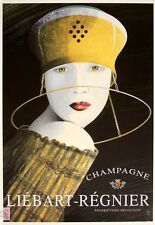 CHAMPAGNE LIEBART-REGNIER VINTAGE ALCOHOL PUB BAR METAL TIN SIGN POSTER PLAQUE