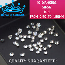 10 Round Brilliant Cut Loose Diamonds 100% Natural SI D-H(white) VG cut sizes