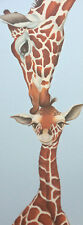 giraffe painting on ready to hang CANVAS fine art giclee print by Lizzie Hall