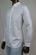 Ralph Lauren Mens White Dress Shirt with Pink And Black Plaid~NWT~