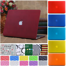 Frosted Matte Hard Case + Free Keyboard Cover for Macbook Air Pro 11 12 13 15 ''