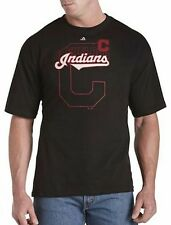 Cleveland Indians MLB Majestic Mens Pop Shirt Black Big & Tall Sizes