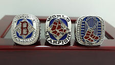 One Set 3 PCS 2004 2007 2013 Boston Red Sox world series championship ring 8-14S