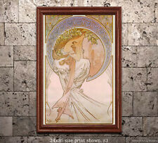 Alphonse Mucha - The Arts - Poetry Poster/Print [6 sizes, matte+glossy avail]