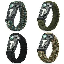 Tactical Paracord Survival Bracelets Wristband Army Military Emergency Gear Kits