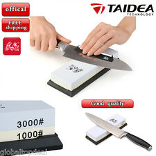 TAIDEA Knife Sharpener Sharpening Double Side Grit Corundum Wetstone Wet Stone