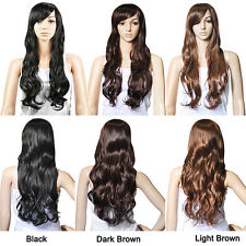 Top Quality Synthetic Hair Gorgeous Ladies Long Wavy Curly Full Wig  WS