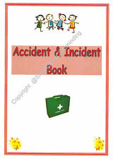 A4 Childminding/ Nursery/ Pre- school Accident & Incident book EYFS readymade