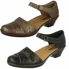 Ladies WENDY LAUREL Leather riptape  ankle strap shoe BY Clarks £ 39.99