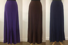 NEW LADIES PULL ON PLAIN FULL LENGTH LONG MAXI SKIRT SIZE S M XL XXL UK 8 - 22