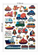 Cartoon Police Car Train Airplane Sticker WallPaper Kids Children bedroom decor
